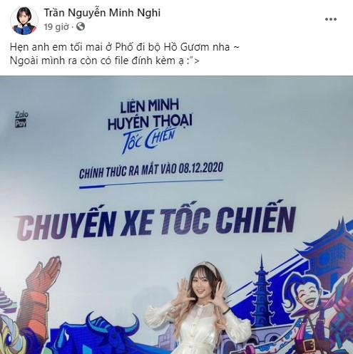 MC Minh Nghi tỏa sáng với sự kiện Chuyến Xe Tốc Chiến tại Hà Nội, danh tính 'file đính kèm' xịn sò hết cỡ