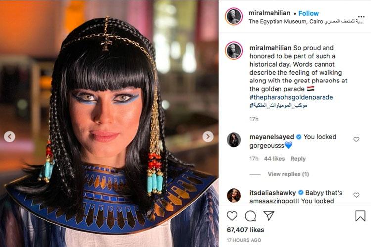 Cô gái dẫn đầu đoàn rước xác ướp Ai Cập làm dậy sóng cộng đồng mạng là ai?