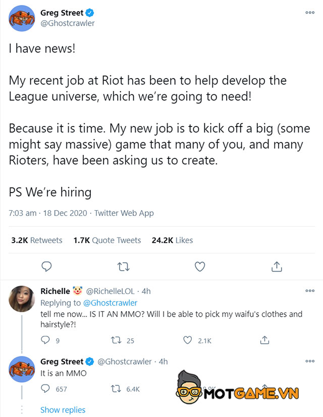 MMO dựa theo vũ trụ LMHT sẽ là tựa game tiếp theo của Riot Games