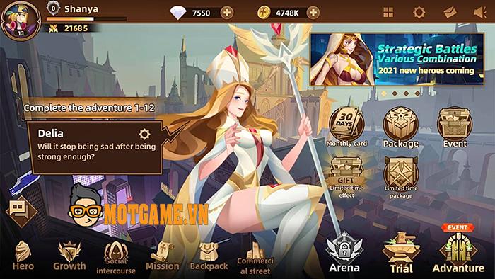 Heroic Anthem: Game đấu tướng mang danh AFK Arena phiên bản màn hình ngang