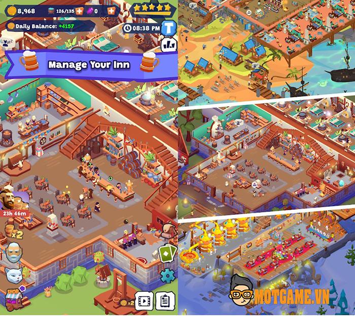 Tải ngay Idle Inn Empire Tycoon – Game mobile quản lý quán trọ thời Trung Cổ