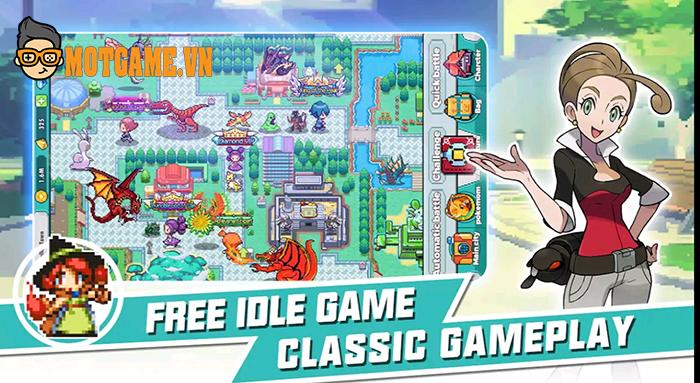 Giải trí nhẹ nhàng với Micromon Universe Remake game nhập vai chiến thuật chủ đề Pokemon