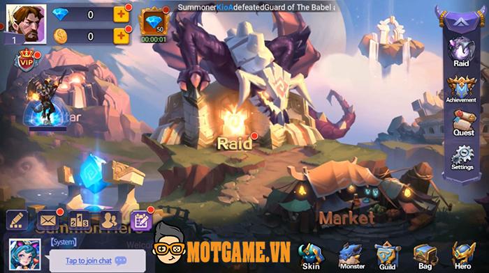 Mobile League: Shadow Wars cho bạn triệu hồi hàng trăm pháp sư để đối chiến nhau