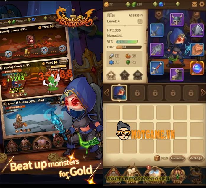 Treasure Spawn Adventure tựa game chiến thuật đấu tướng dành cho nhiều độ tuổi