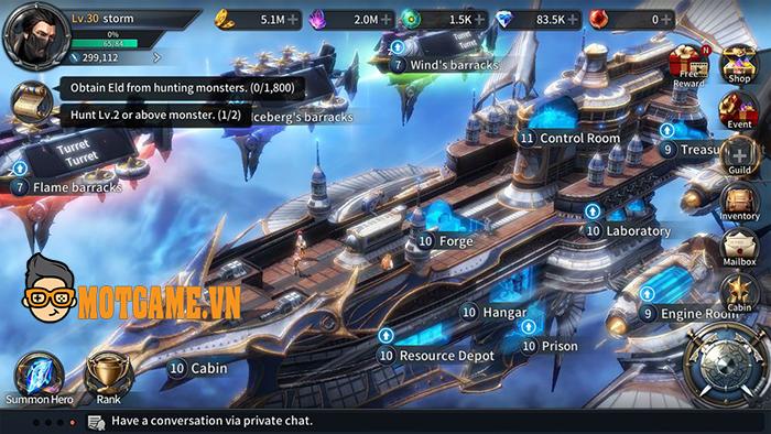 War of Storms mang đến sự giao thoa hài hòa giữa thể loại game chiến thuật và nhập vai