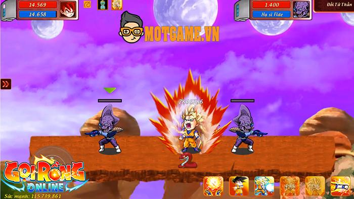 Cái chất Dragon Ball hiển thị khắp mọi nơi trong Gọi Rồng Online