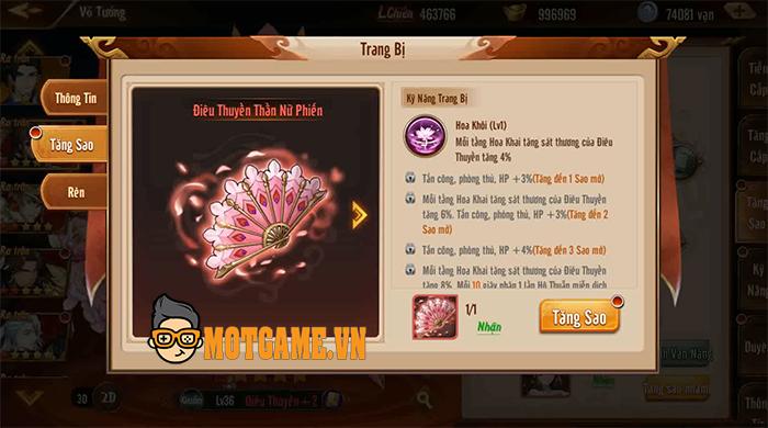 Người chơi Tân OMG3Q VNG đã có thể kích hoạt Thần Binh cho các chiến Tướng của mình