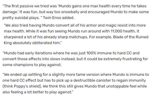 """LMHT: Suýt nữa thì Dr. Mundo """"mới"""" sẽ sở hữu 11 nghìn máu, miễn nhiễm khống chế cứng chỉ với nội tại"""