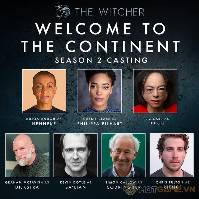 TV Series The Witcher Season 2 chào đón 7 gương mặt mới