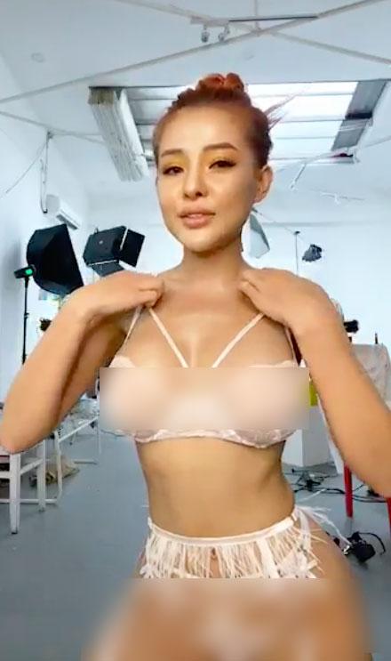 Hot girl Bình Định tung clip hậu trường chụp ảnh nội y phản cảm