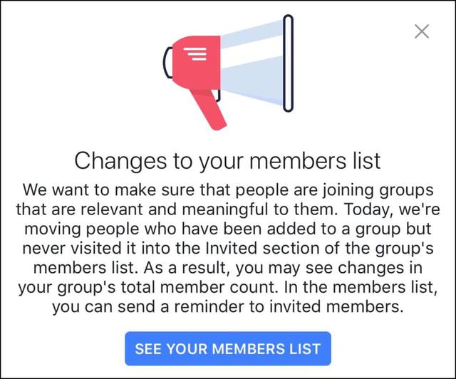 """Nhận được thông báo """"chết chóc"""" từ Facebook, nhiều Group có thể bốc hơi tới hàng triệu member"""