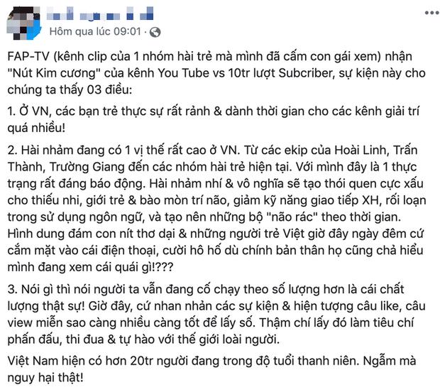 """Toàn cảnh """"đại chiến"""" giữa FAPTV và antifan khi bị nhận xét hài nhảm mà cũng nhận """"nút kim cương"""", Cris Phan liền góp mặt vào drama này!"""