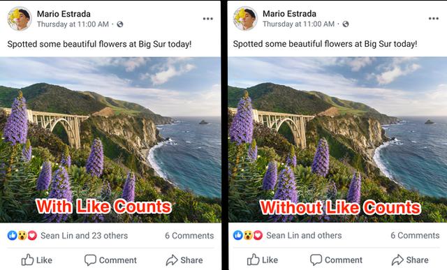 Khuyến khích mọi người 'sống thật và không đố kị', Facebook bắt đầu ẩn số lượng like trên bài viết