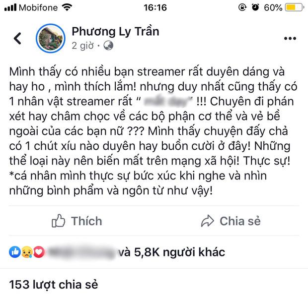 """Tiếp vụ Phương Ly chỉ trích streamer săm soi, nhận xét con gái, ViruSs thừa nhận: """"Mình không muốn lên tiếng"""""""