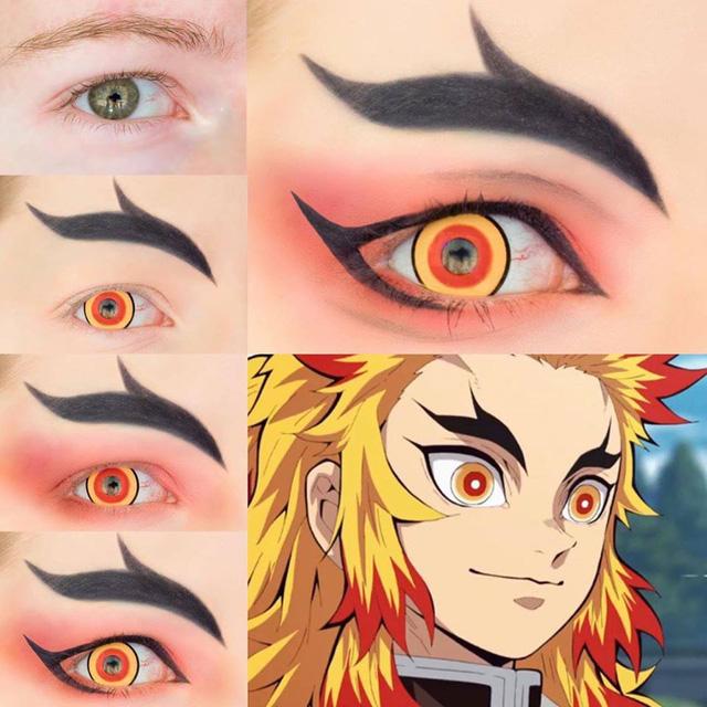 """Bí kíp hóa trang mắt """"sao y bản chính"""" các nhân vật trong anime Kimetsu no Yaiba"""