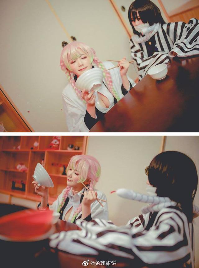 Kimetsu no Yaiba: Nhìn loạt ảnh cosplay Xà Trụ và Luyến Trụ mà tưởng họ yêu nhau đến nơi rồi