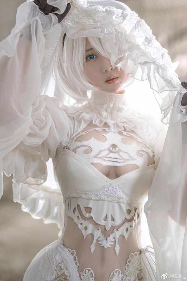 """Ngất ngây với cô nàng 2B trong Nier: Automata xinh tựa """"thiên thần"""""""