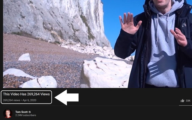 Như trò ảo thuật: Youtuber này tìm được cách đổi tiêu đề video của mình thành số lượt xem theo thời gian thực