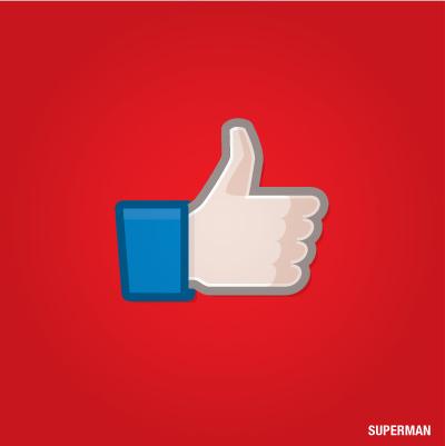 Siêu anh hùng kết hợp với nút like Facebook, kết quả thu được thật bất ngờ