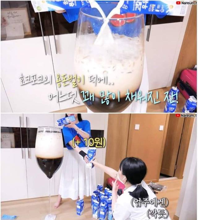 Học bà Tân Vlog làm trà sữa siêu to khổng lồ, nữ Youtuber người Hàn nhận cái kết đắng ngắt