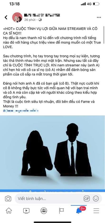 Một fanpage về showbiz bóng gió ám chỉ Cara – Noway là 'cuộc tình vụ lợi', quản lý SBTC gay gắt đáp trả