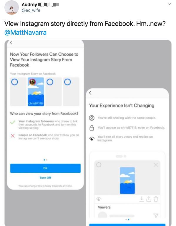 Instagram sẽ cho phép người dùng xem story ngay từ trên Facebook