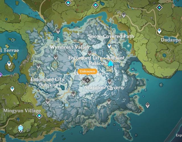 """Spoil Genshin Impact: Lộ diện bản đồ mới """"Long Tích Tuyết Sơn"""", tướng mới Xiao sẽ ra mắt trong phiên bản 1.2"""