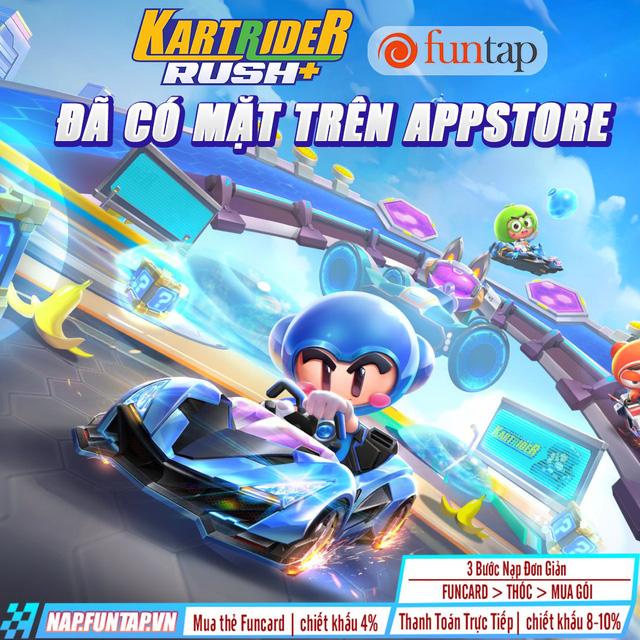KartRider Rush+ đã chính thức có bản IOS, tải ngay để nhận những ưu đãi hấp dẫn