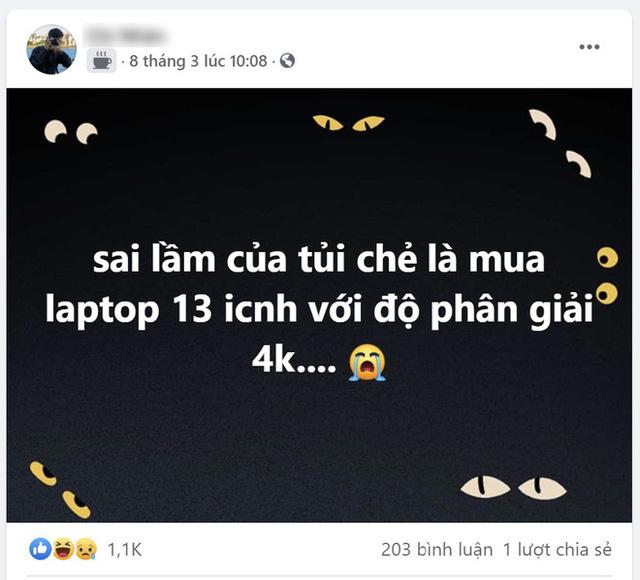 """""""Sai lầm của tuổi trẻ là mua laptop 13 inch với độ phân giải 4K"""""""