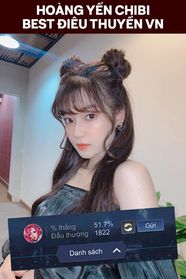 """2000 trận chỉ một tướng, girl 1 champ Hoàng Yến Chibi khoe tâm hồn căng mọng, đập tan tin đồn """"màn hình phẳng"""""""