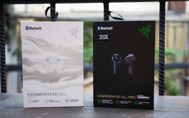 Cặp đôi tai nghe gaming không dây hiếm có khó tìm của Razer: Hammerhead True Wireless và Pro