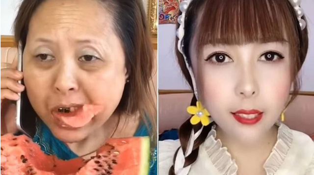 """Nữ streamer lớn tuổi chứng minh mọi thứ đều có thể """"giả tạo"""", tự biến bản thân thành thánh nữ Yui Hatano chỉ sau vài phút trang điểm"""