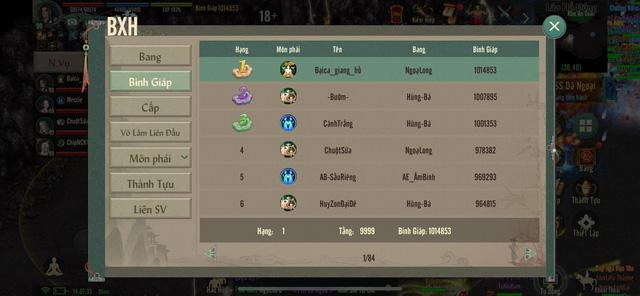 Sốc với lực chiến và số tiền nạp vào game của đại gia Top 1 server đầu tiên trong VLTK 1 Mobile