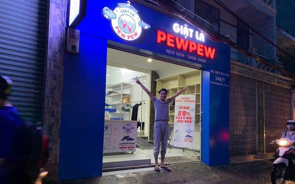 Pewpew khai trương thêm tiệm giặt là mang thương hiệu của bản thân – doanh nhân thành đạt là đây chứ đâu