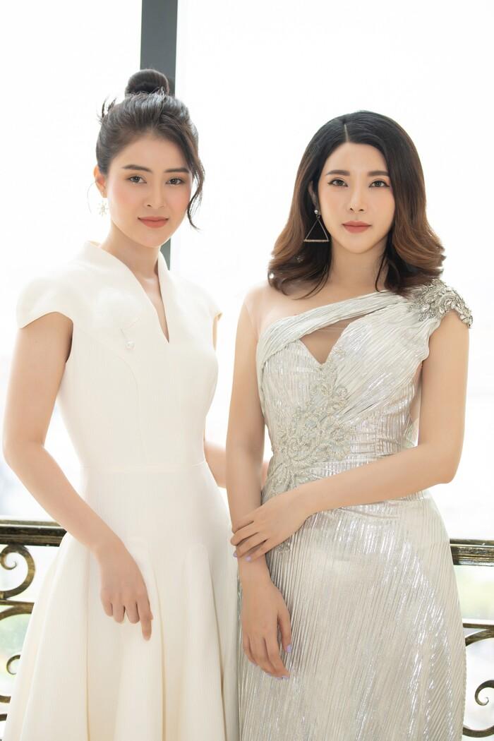 Yan My – Lý Kim Thảo lộng lẫy với đầm trắng trên thảm đỏ đại hội Đại biểu Hội Người mẫu Việt Nam