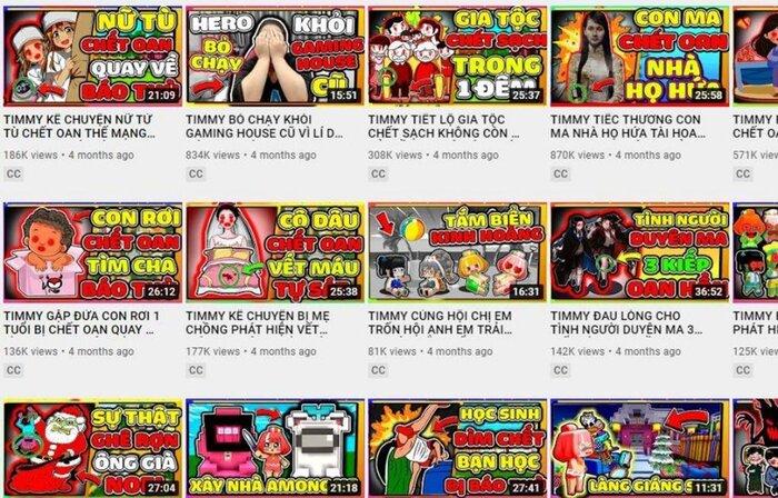 Cục trẻ em đề nghị 'xóa sổ' TIMMY TV – kênh YouTube có nội dung độc hại, ảnh hưởng tới trẻ em