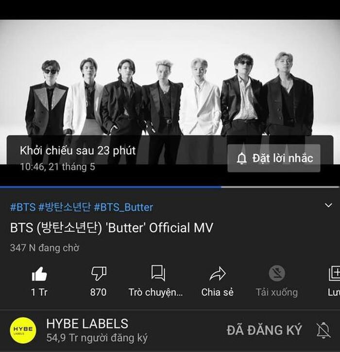 Butter của BTS chính thức trở thành MV đạt 100 triệu view nhanh nhất lịch sử Youtube