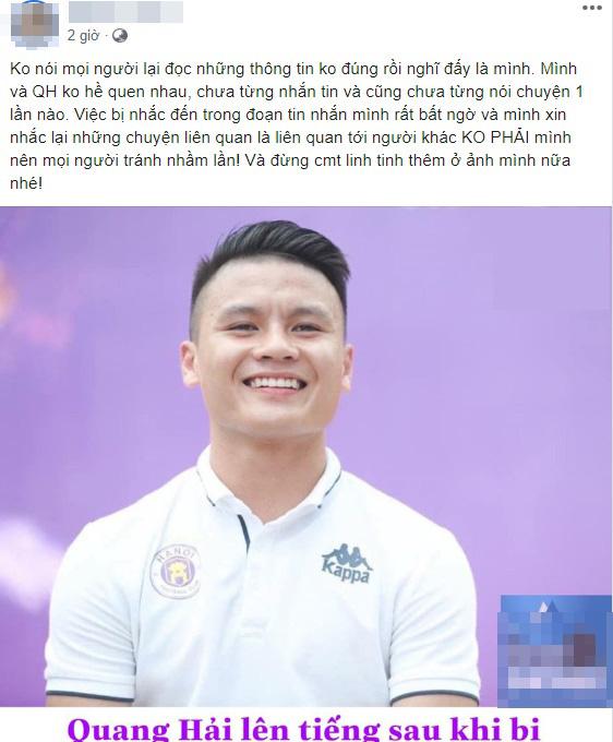 """Hot girl Hà Nội tá hỏa trước tin đồn cùng cầu thủ Quang Hải """"đi đu đưa"""""""