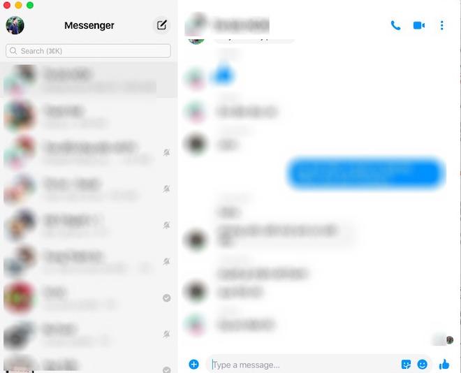 Ứng dụng Facebook Messenger chính chủ đã có trên macOS