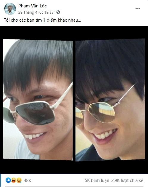Cộng đồng mạng phát sốt với trào lưu chế ảnh theo phong cách Lee Min Ho, tới cả idol Lộc Fuho cũng tham gia