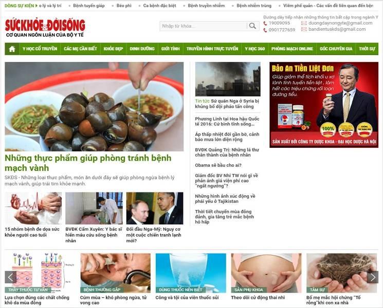 Top 10 Website chia sẻ kiến thức chăm sóc sức khỏe tốt nhất Việt Nam