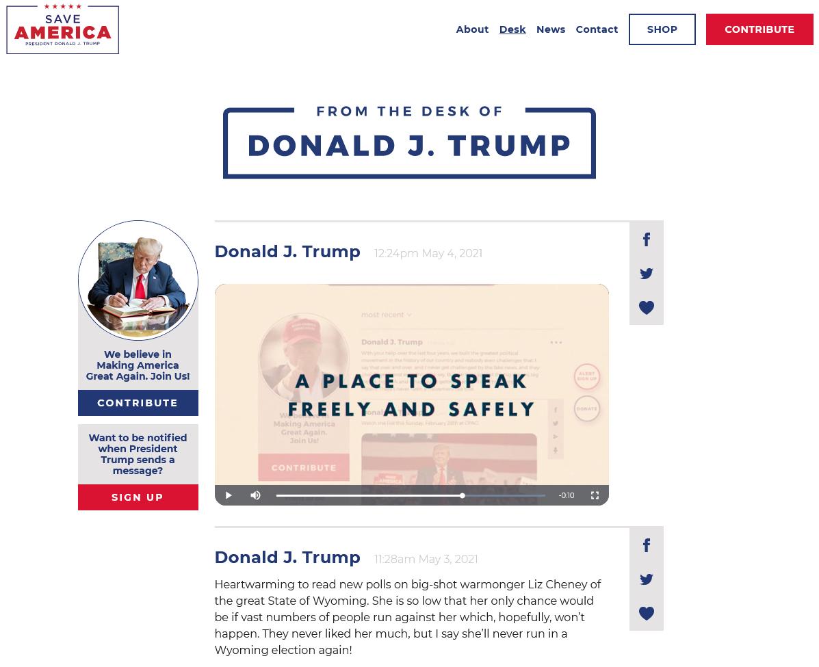 Không chờ Facebook, ông Trump ra mắt kênh chia sẻ riêng