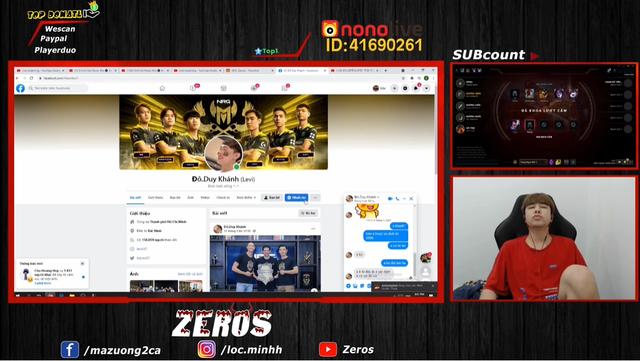 """Zeros tiếp tục show tin nhắn, tung """"bằng chứng"""" ngay cả Levi cũng từng bị GAM nợ 200 triệu tiền thưởng vô địch"""