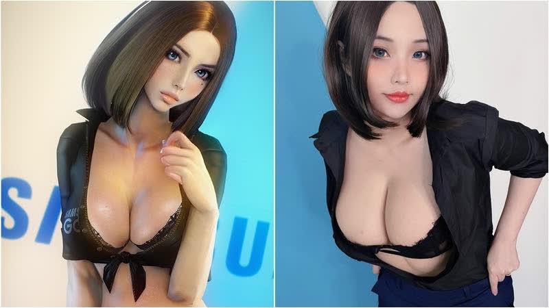 """Nữ coser gốc Việt cũng quyết định """"cởi"""" để biến thành nữ trợ lý ảo Samsung, khoe trọn những thứ """"18+"""""""