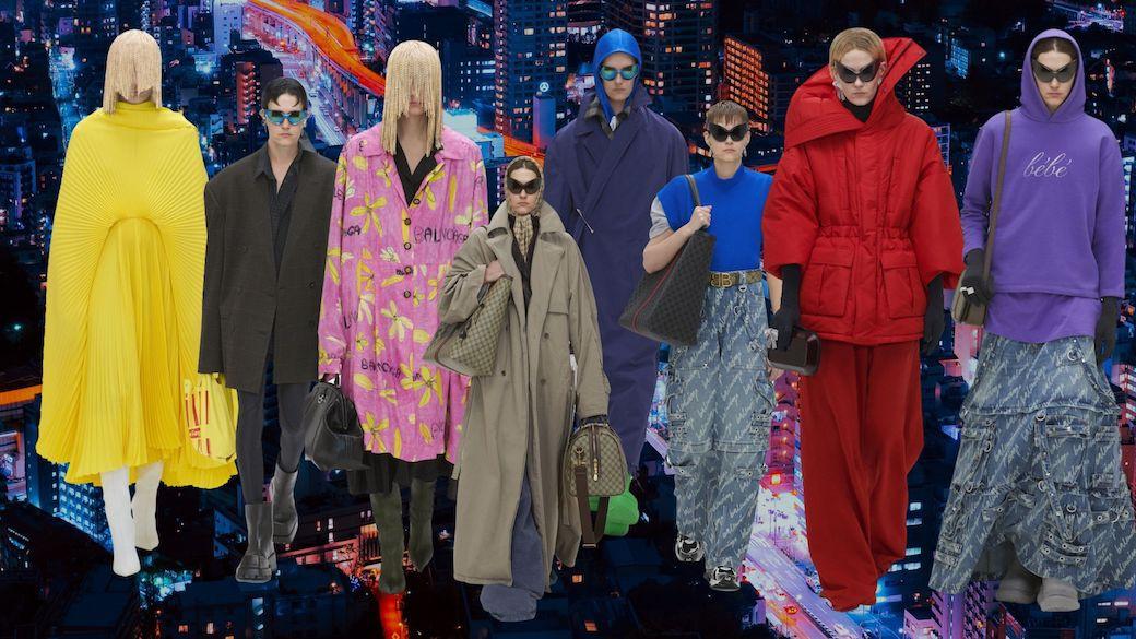 Show diễn toàn người mẫu ảo, lăng xê làn đi chợ của Balenciaga