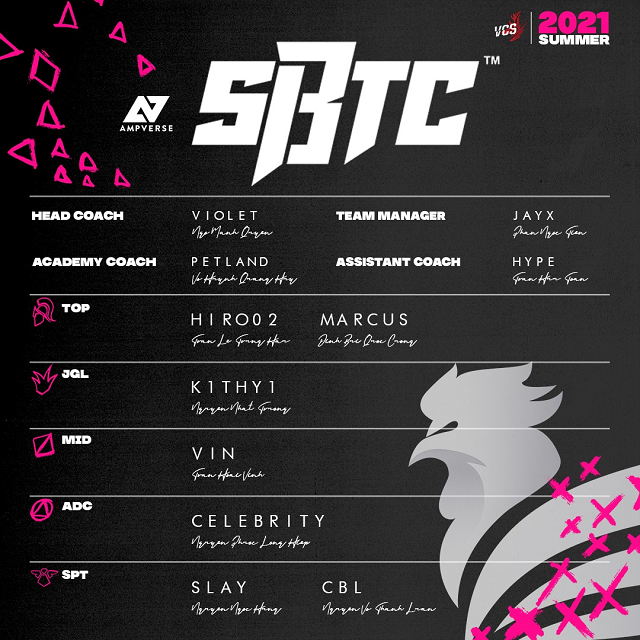 LMHT: SBTC Esports công bố đội hình tại VCS Mùa Hè 2021 với nhiều nhân tố mới