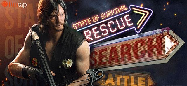 """Daryl Dixon đã có mặt và sẵn sàng chiến đấu sau """"cú bắt tay lịch sử"""" giữa State of Survival và The Walking Dead"""