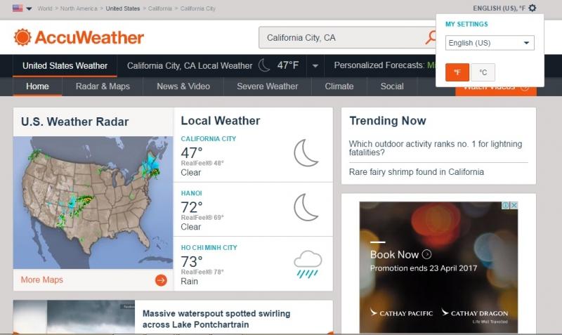 Top 6 Trang Web xem dự báo thời tiết thế giới tốt nhất