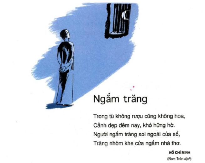 """Top 15 Bài văn phân tích bài thơ """"Ngắm trăng"""" của Hồ Chí Minh hay nhất"""
