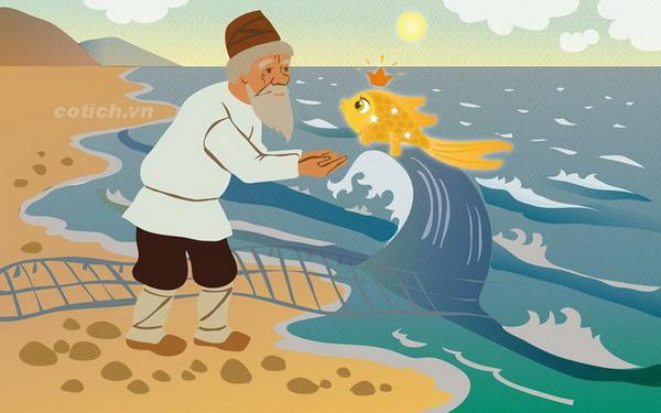 """Top 10 Bài văn phân tích truyện """"Ông lão đánh cá và con cá vàng"""" của Pu-skin hay nhất"""